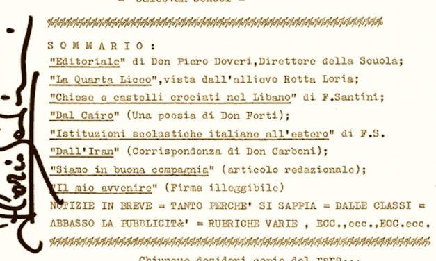 Gazzetta Scolastica del lontano 1971, con molte sorprese!