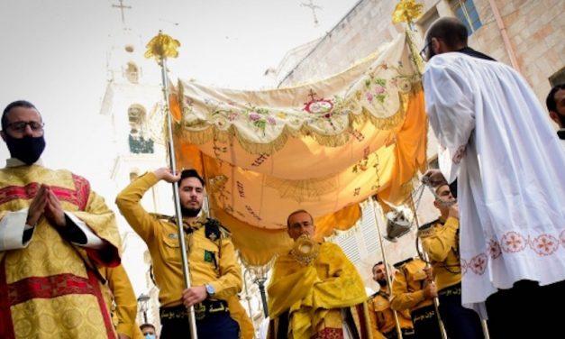 Betlemme : I Salesiani hanno organizzato la processione del Corpus Domini