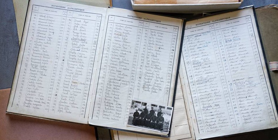 Particolare del registro degli iscritti | © JUAN MILLÁS